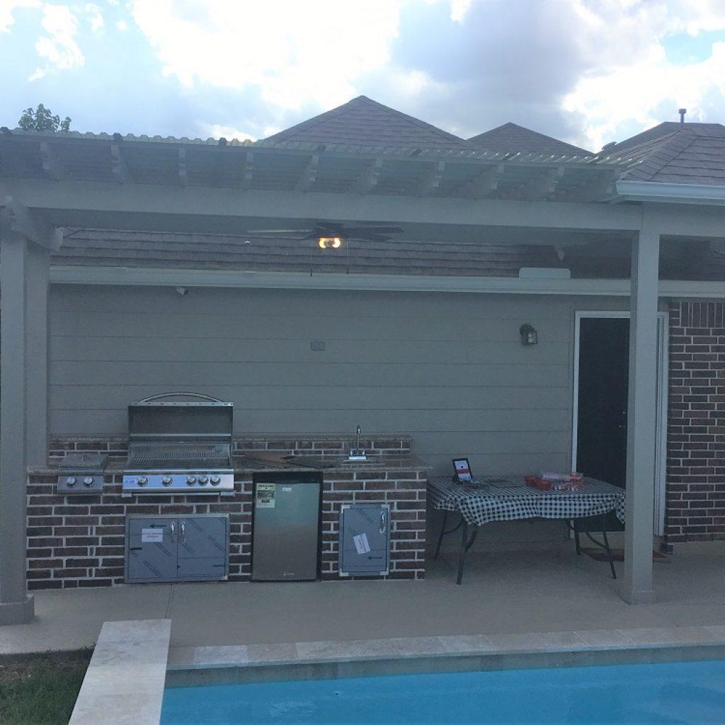Where to build an Outdoor kitchen - Texas