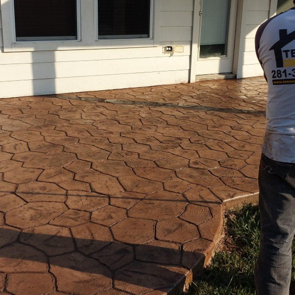 concrete floor in America