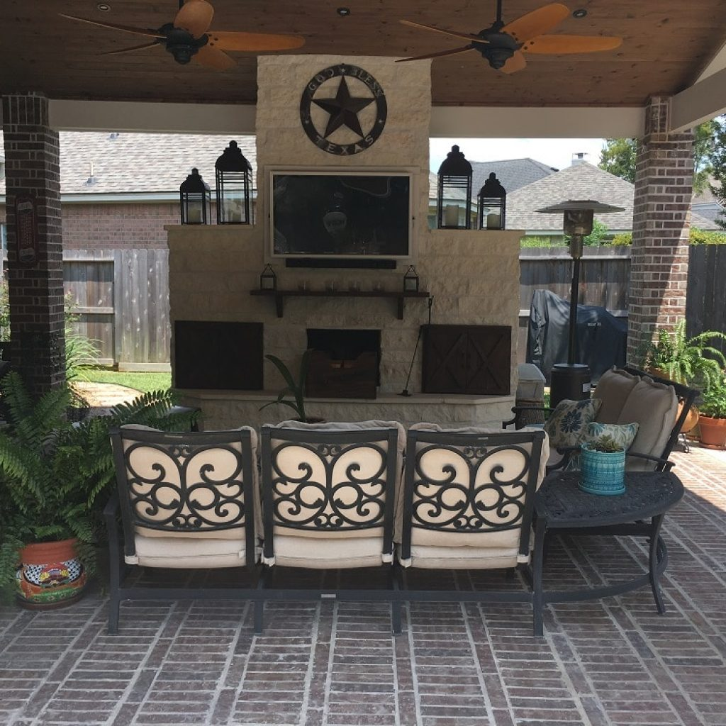 To build a fireplaces in Texas